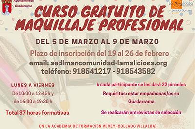 Curso de maquillaje profesional en Guadarrama