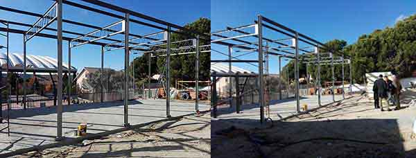 El colegio Lourdes de Torrelodones, sin gimnasio tras meses de obras