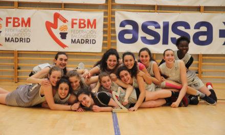 Las jugadoras junior de baloncesto Torrelodones, subcampeonas de Madrid