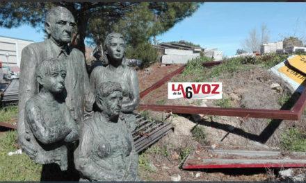 Retiran una escultura de José María Casanova y aparece en un descampado de Torrelodones