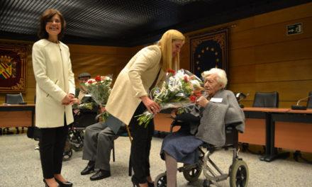 Homenaje a los mayores de más de 100 años en Collado Villalba