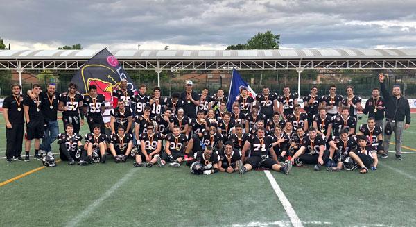 El equipo de Football americano de Las Rozas gana la liga nacional junior