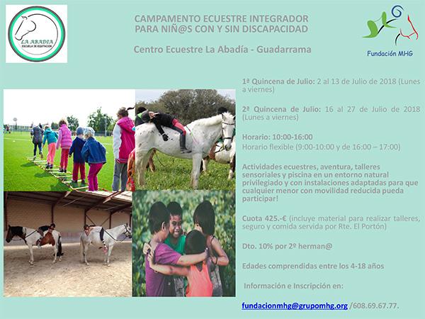 La Fundación MHG organiza un campamento ecuestre inclusivo