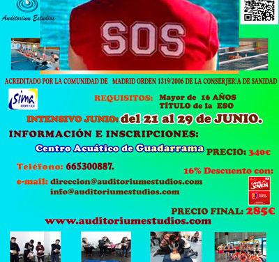 Curso de socorrista en el Centro acuático de Guadarrama