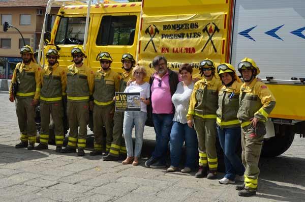 La alcaldesa de Guadarrama, en apoyo a la huelga de bomberos forestales