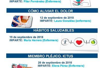 La Escuela de Cuidadores del Hospital de Guadarrama organiza nuevos talleres