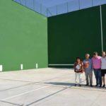 Concluyen las obras del frontón del polideportivo Juan Antonio Cuadrillero
