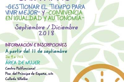 Gestionar el tiempo para vivir mejor, cursos y talleres en Collado Villalba