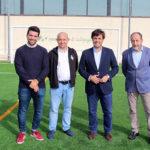 El campo de fútbol El Chopo estrena temporada y césped