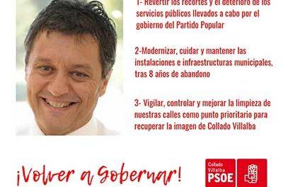 Vituco Alcolea presenta su candidatura a la alcaldía de Collado Villalba