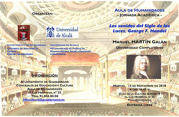 El Aula de Humanidades ofrece un recorrido por la obra de Handel