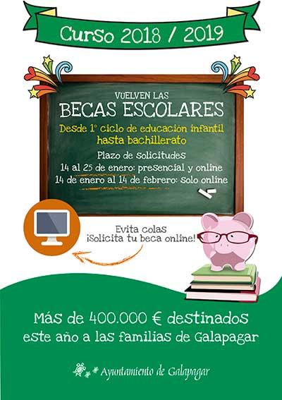 becas escolares en Galapagar