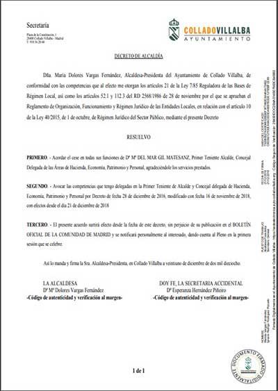 primera teniente de alcalde de Collado Villalba
