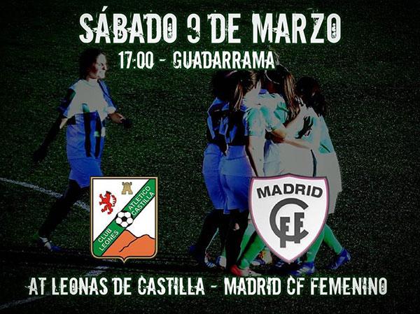 Partido homenaje a la mujer entre las féminas del Club Atlético Leones y el Madrid CFF