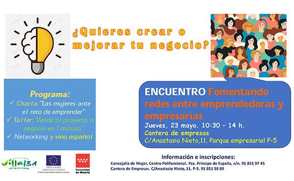 Encuentro entre mujeres emprendedoras y empresarias en Collado Villalba