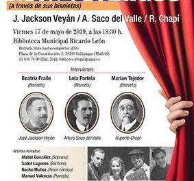 Reencuentro de tres amigos: Ruperto Chapí, Arturo Saco del Valle y José Jackson Veyán
