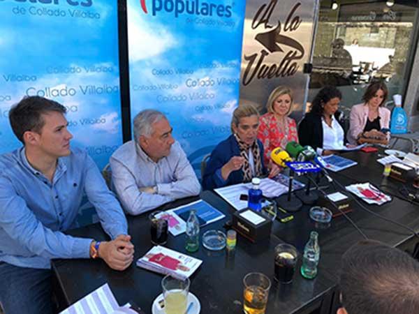 Empleo, economía y familias, prioridades del PP de Collado Villalba