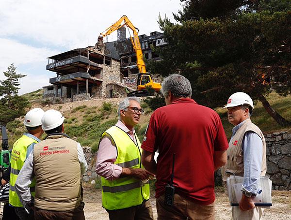 club alpino de Guadarrama obras de demolición