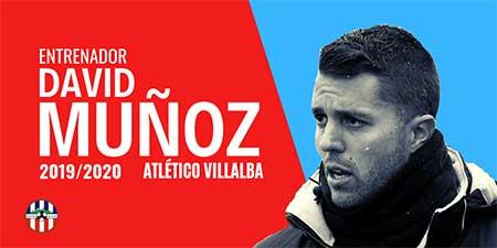 El Atlético Villalba renueva a David Muñoz como entrenador del primer equipo