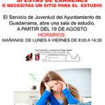 El Servicio de Juventud de Guadarrama abre sala de estudio