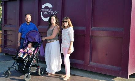 El Sendero de Iria instala en Guadarrama un contenedor para recoger tapones solidarios