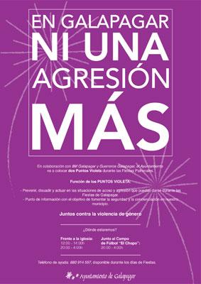 dos puntos violeta en las fiestas de Galapagar