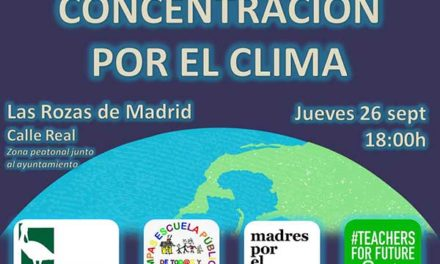 Concentración por el clima en Las Rozas