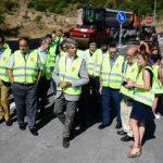 El consejero de Transportes, Ángel Garrido, visita las obras de mejora de la M-505