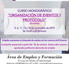 Curso sobre organización de eventos y protocolo