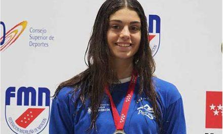 La sanlorentina Laura Sánchez, subcampeona de España en 100 metros espalda