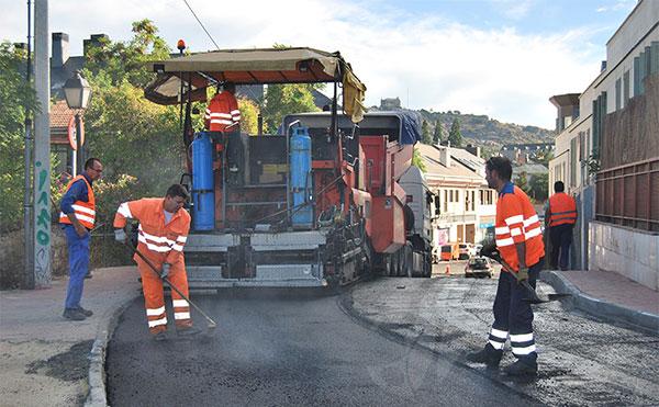 Cortes de calles por asfaltado en Torrelodones