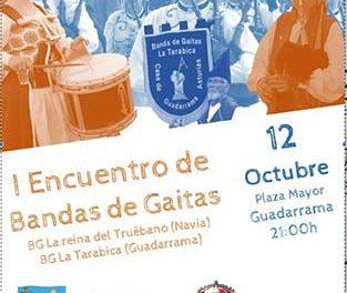 Encuentro de bandas de gaitas en Guadarrama