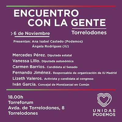 Acto de campaña de Unidas Podemos