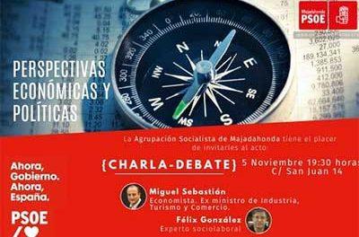 Charla de Miguel Sebastián y Félix González en la Agrupación Socialista de Majadahonda