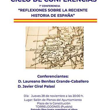"""Vox Torrelodones organiza una conferencia sobre """"La reciente historia de España"""""""