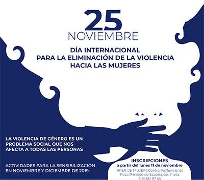 Actividades de concienciación en el Día para la eliminación de la violencia hacia las mujeres en Collado Villalba