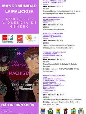 La Mancomunidad La Maliciosa organiza actividades por el Día para la eliminación de la violencia contra la mujer