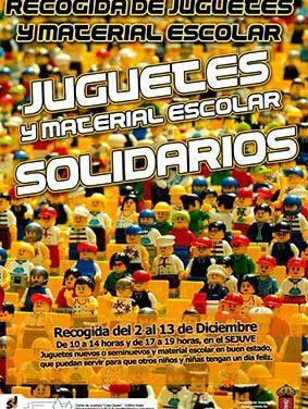 El Sejuve pone en marcha una campaña de recogida de juguetes y material escolar