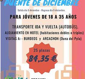 Viaje a Bègles para los jóvenes de Collado Villalba