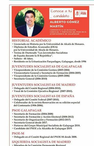 El alcalde de Galapagar declara que su título de doctor estaba equivocado en la web municipal