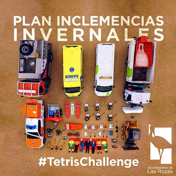"""Las Rozas recurre a un """"Tetris challenge"""" para presentar el Plan de Inclemencias Invernales"""