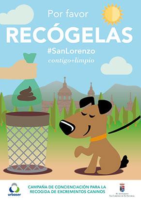 excrementos caninos recogida en san lorenzo de el escorial