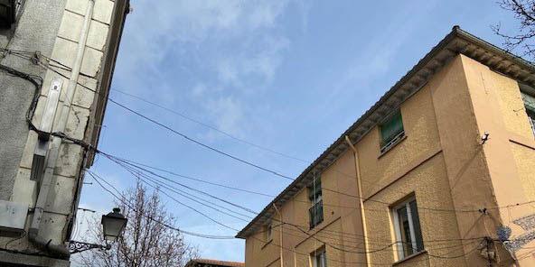 Obras para soterrar las líneas de telefonía en San Lorenzo