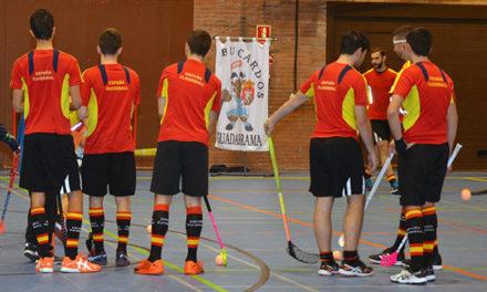 Último entrenamiento del equipo nacional de floorball en Guadarrama