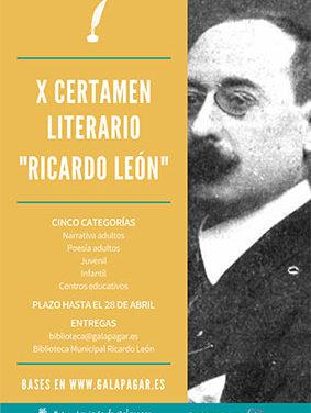 X Certamen literario Ricardo León
