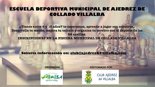 Jornada de puertas abiertas para conocer el Club Ajedrez 64 Collado Villalba