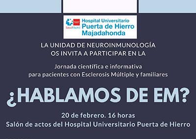 AdemCVillalba colabora en la Jornada sobre Esclerosis Múltiple en el Hospital de Majadahonda