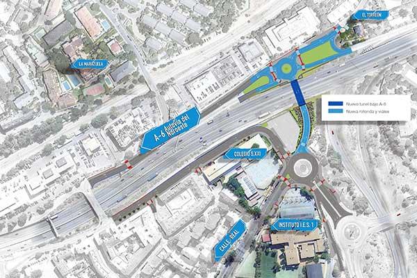 Aprobado el proyecto para el paso bajo la A-6 que unirá La  Marazuela y El Torreón con el centro