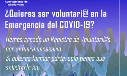 Guadarrama crea un registro de voluntarios para asistencia a personas vulnerables