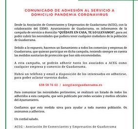 La Asociación de Comerciantes de Guadarrama lleva la compra a casa